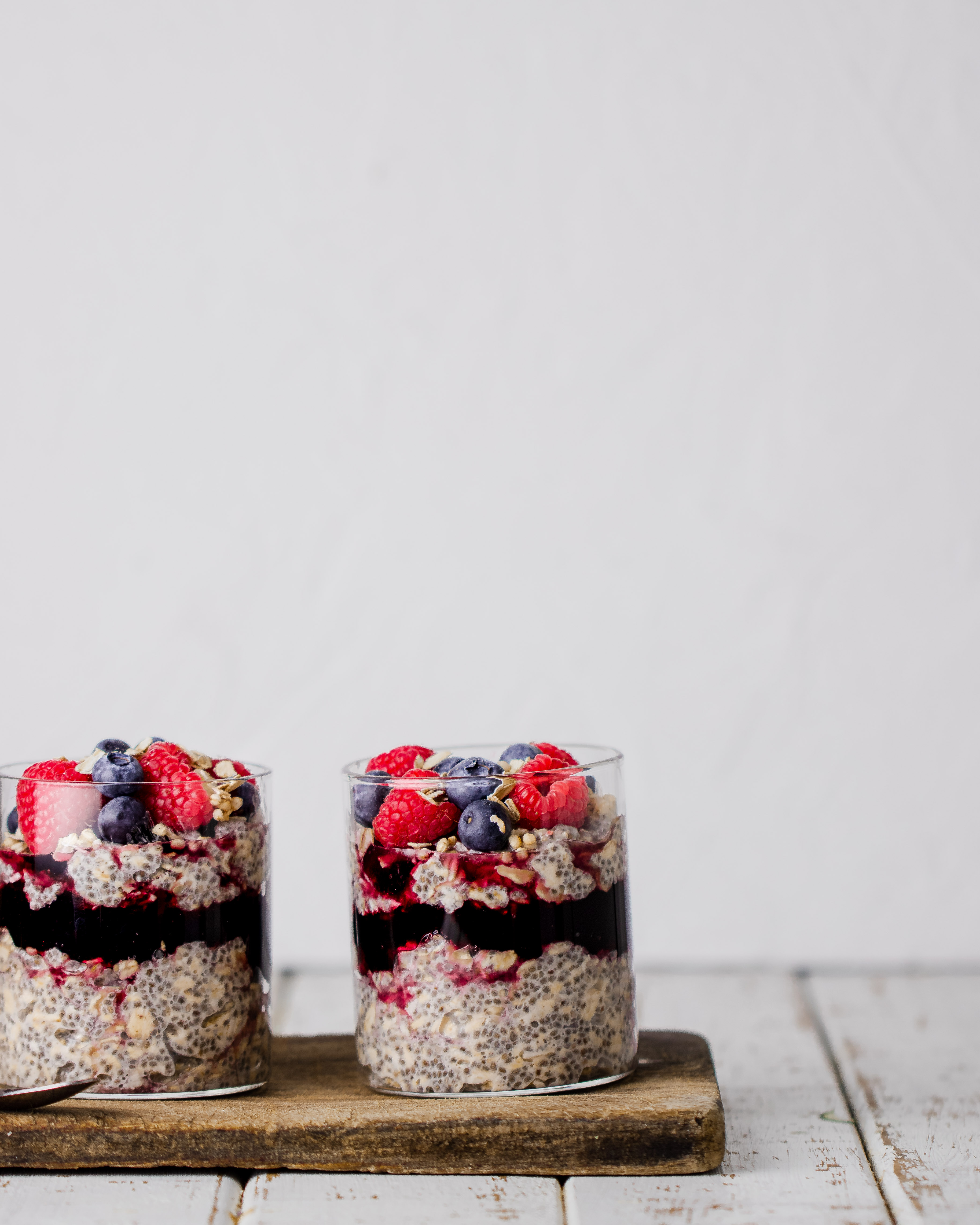 coconut overnight oats with fresh berries