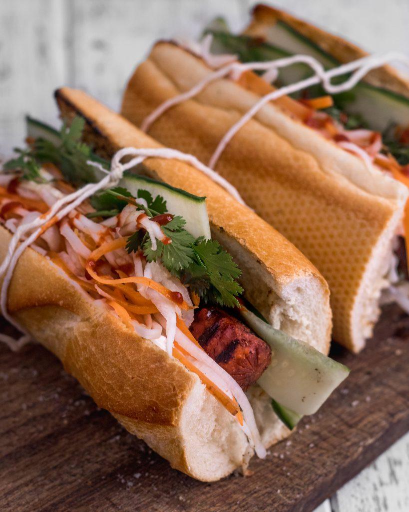 vegan hot dog banh mi