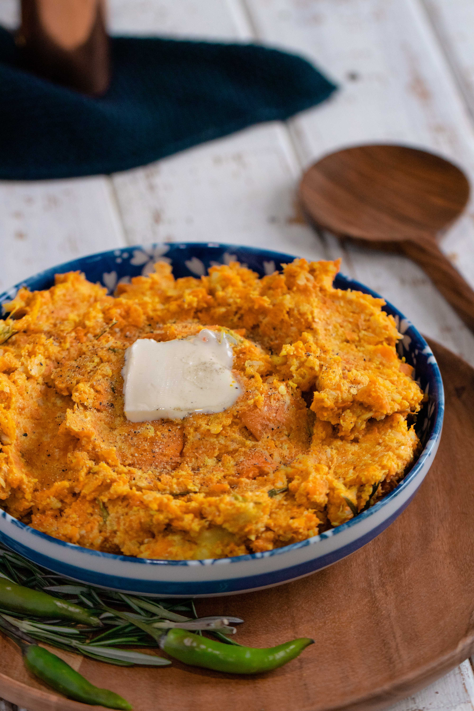 curry carrot cauliflower mash