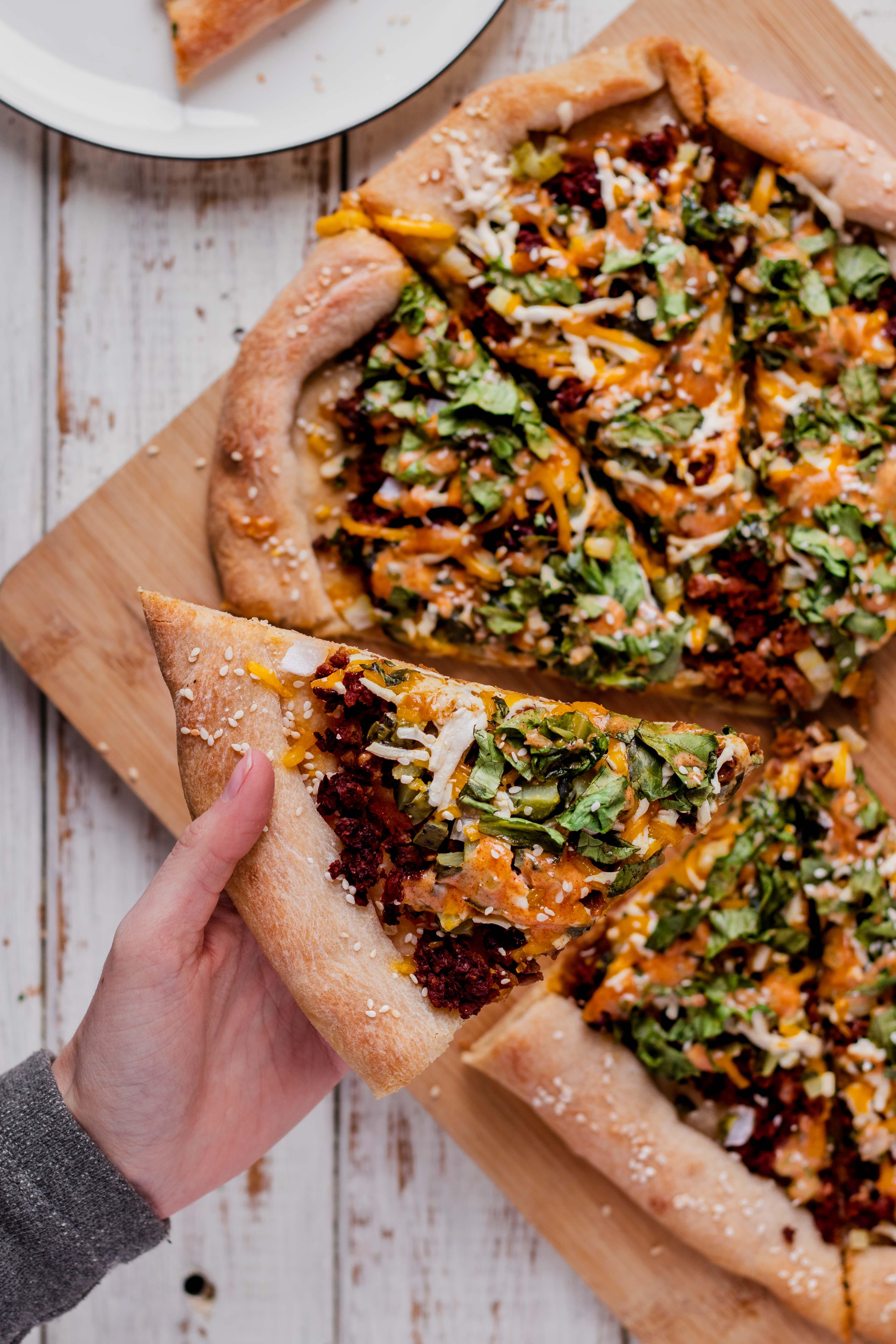 Vegan Big Mac Pizza