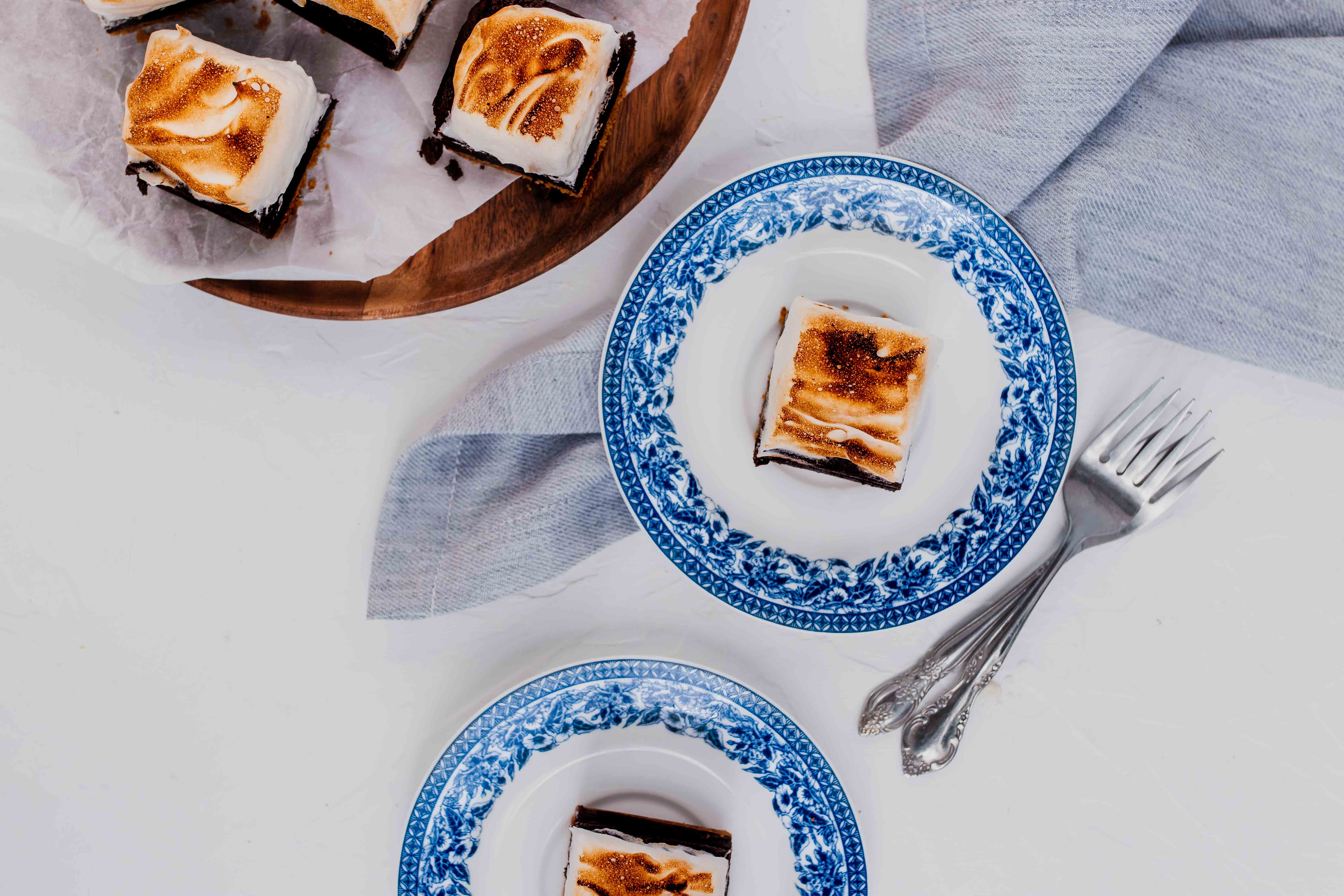 s'mores brownies overhead