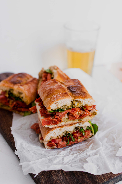 salami pesto sandwich