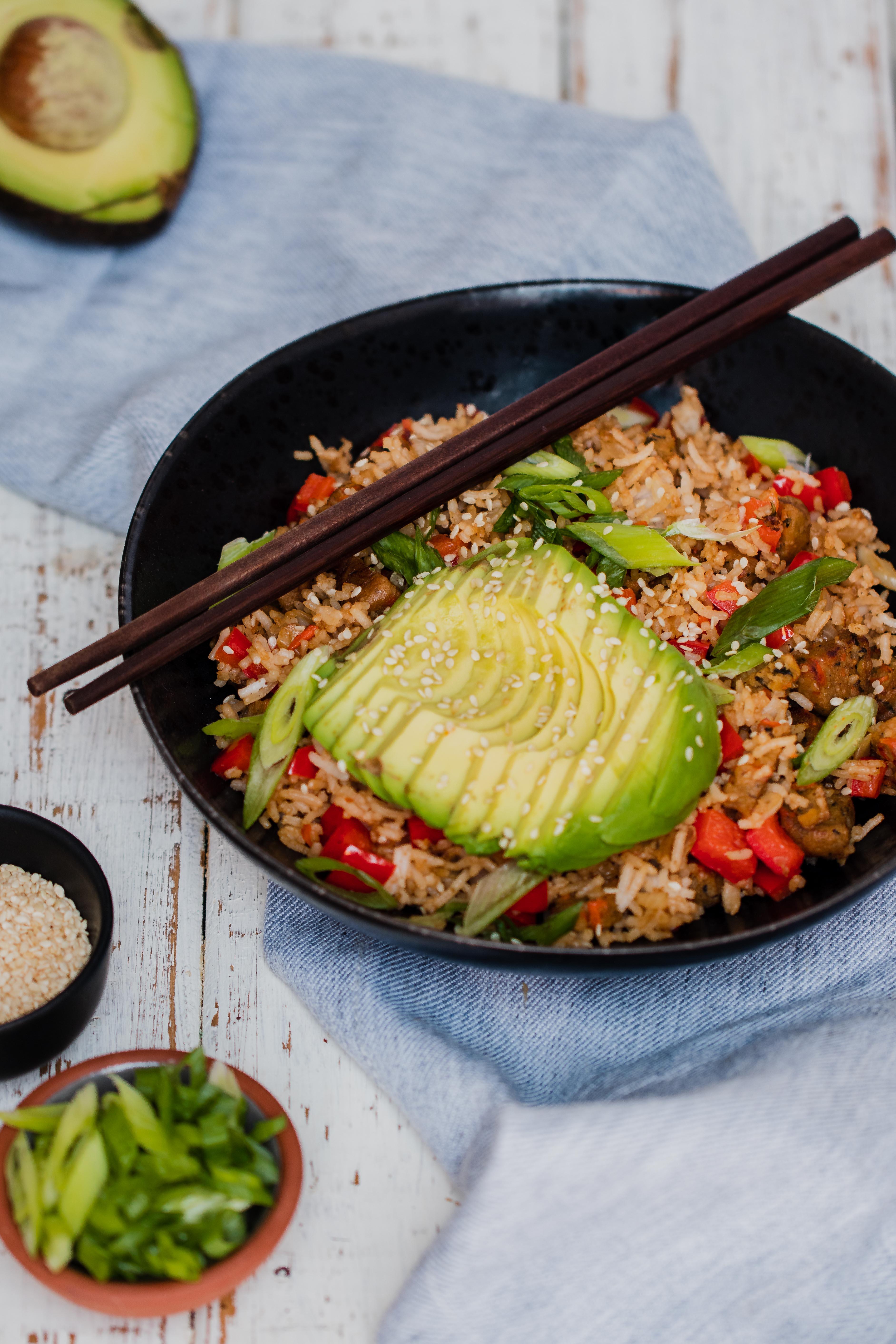 vegan breakfast fried rice