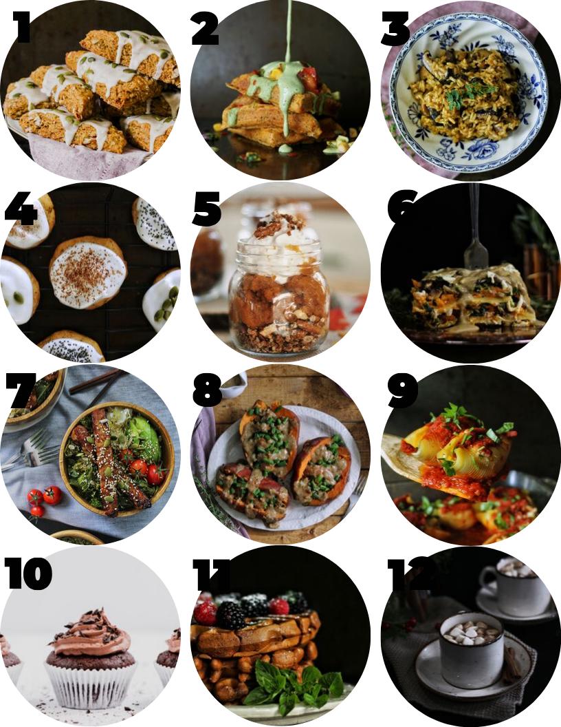 autumnal vegan recipes countdown