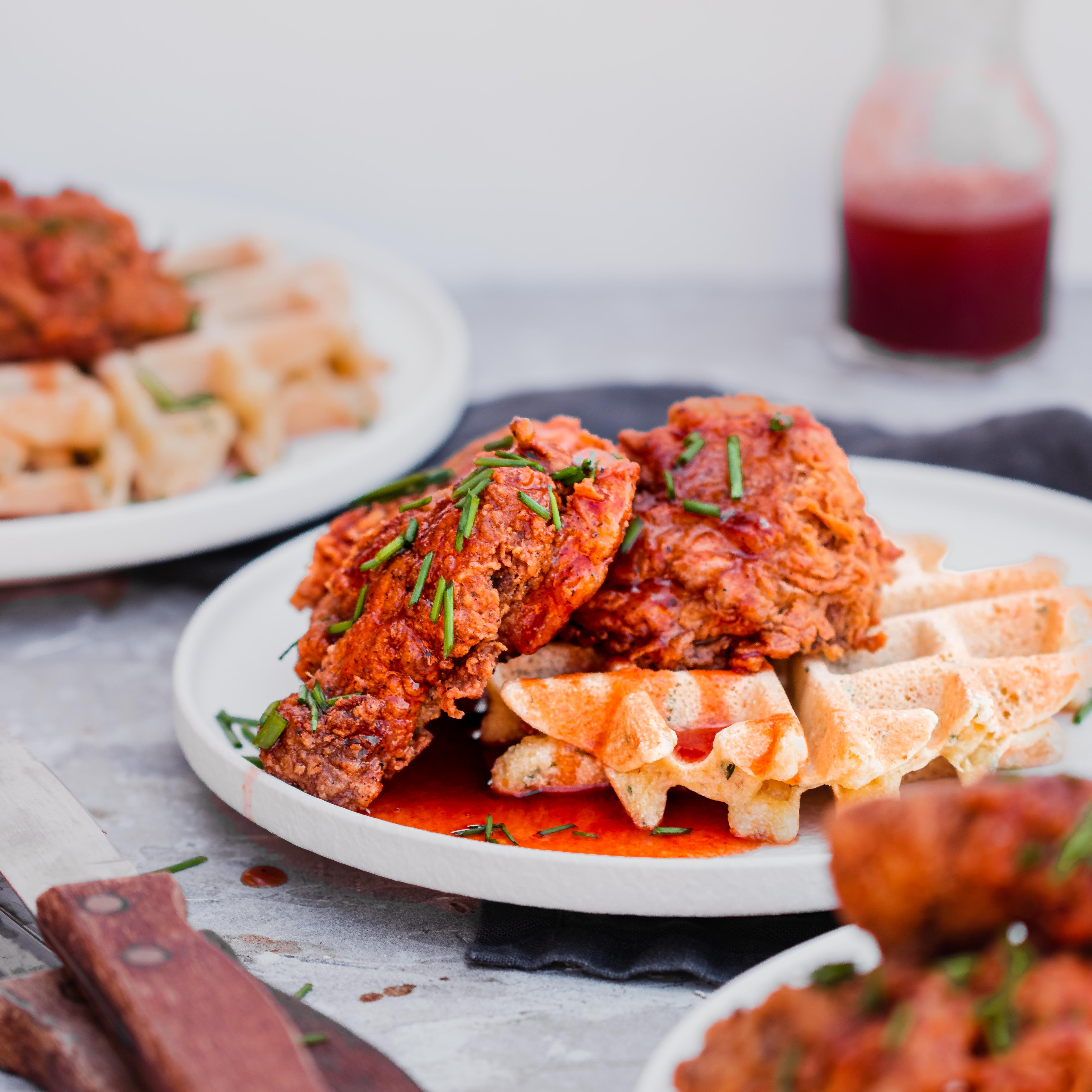 Vegan Chicken and Waffles
