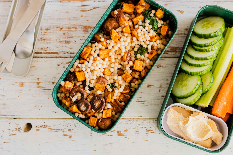 Bento Box MIso Maple Couscous Salad