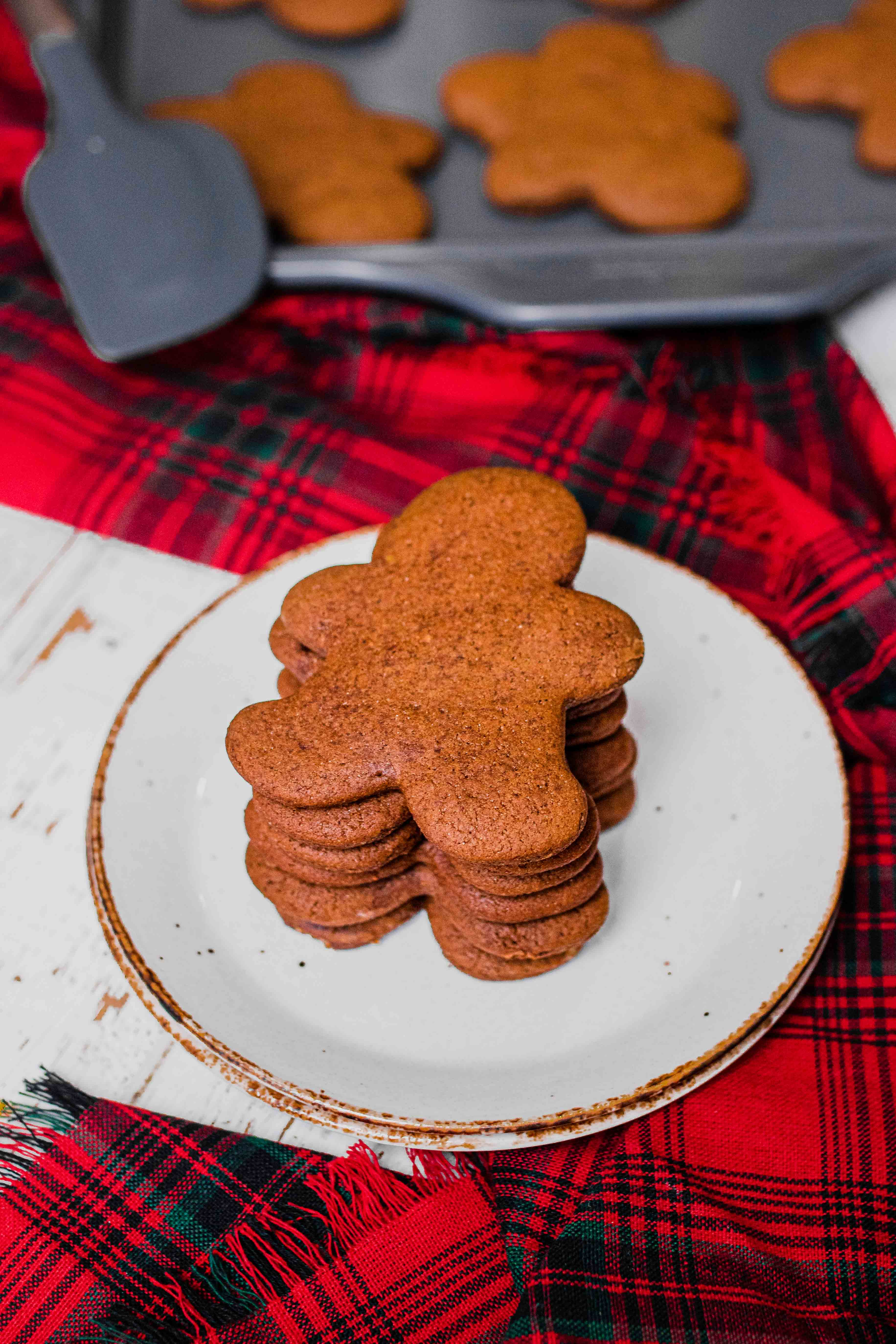 gingerbread people cookies stacked