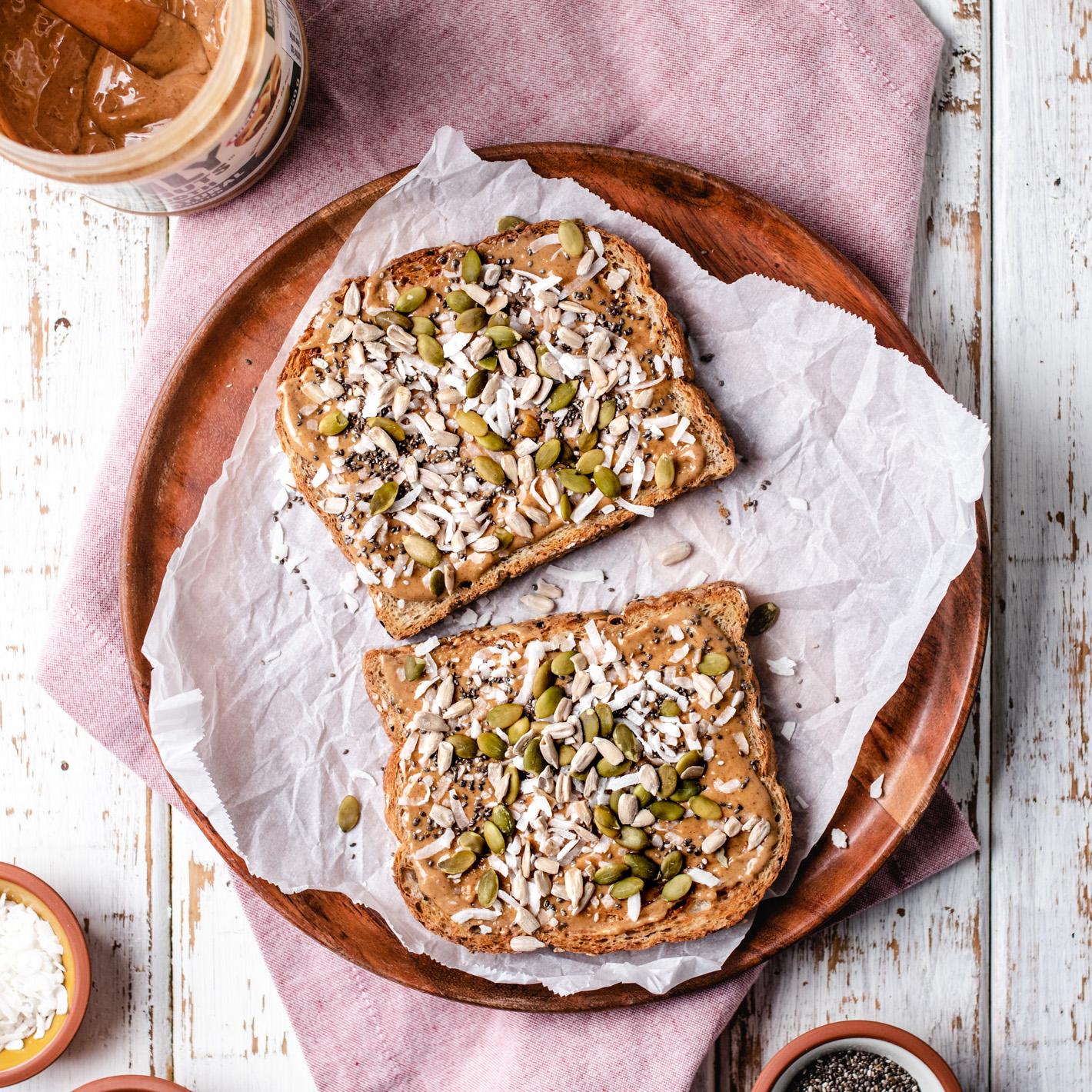 Coconut Peanut Butter Toast