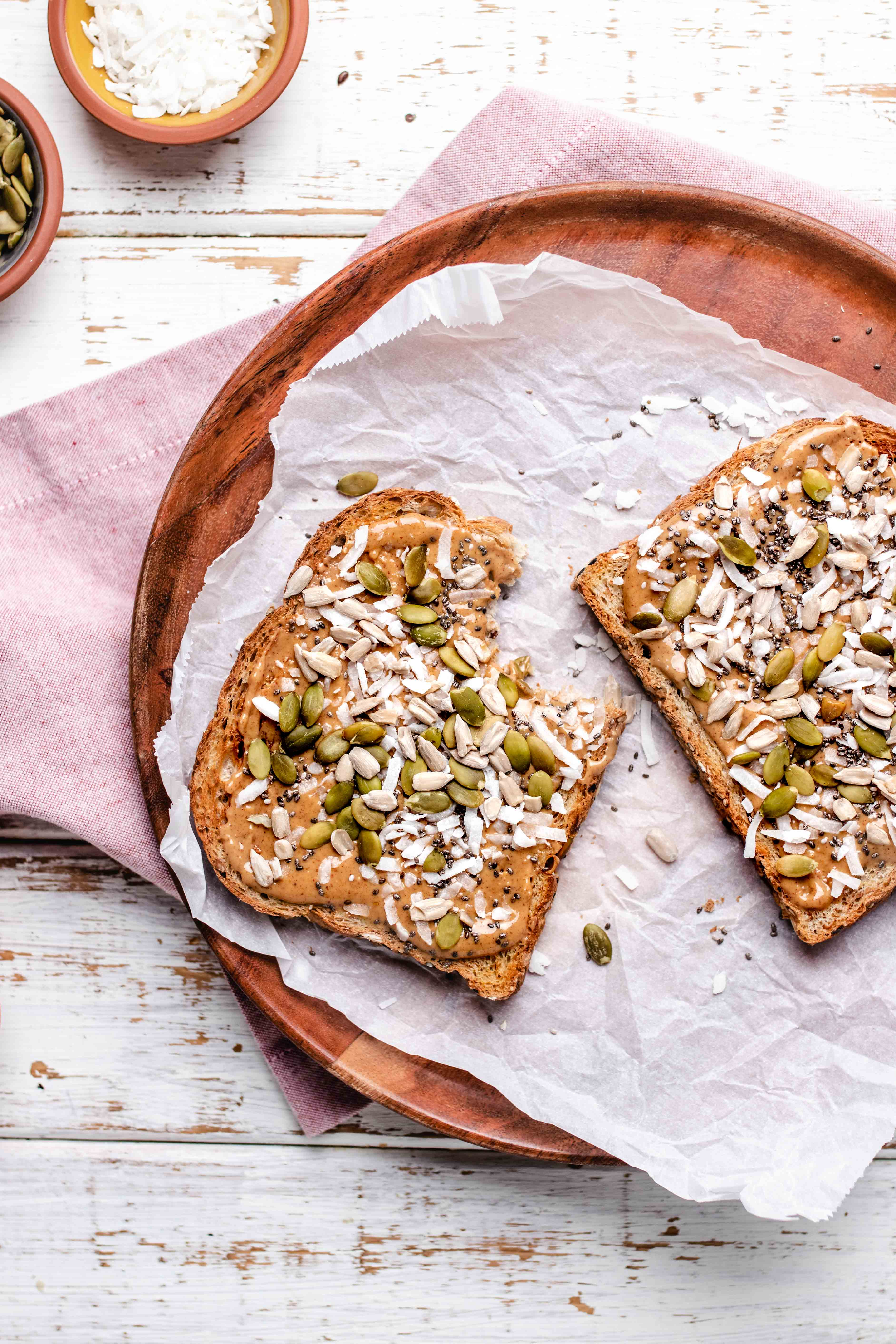 coconut peanut butter toast