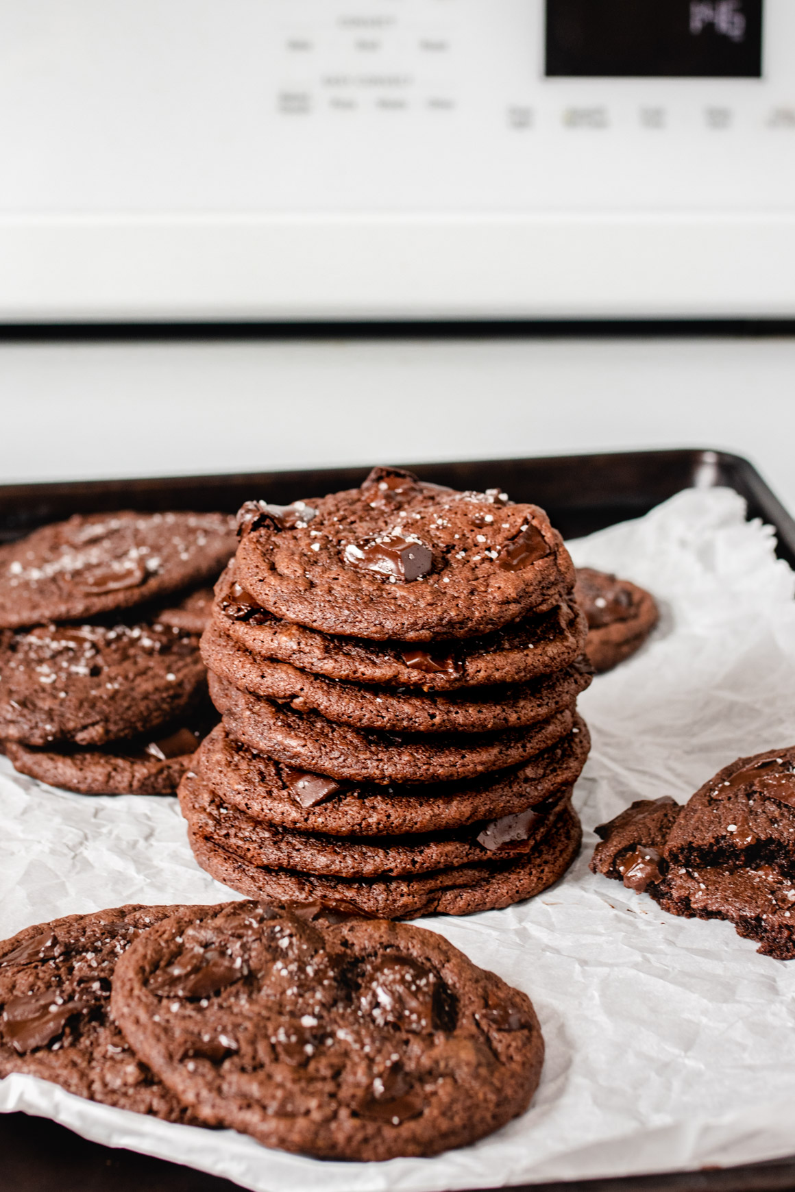 Double Chocolate Cookie Stack
