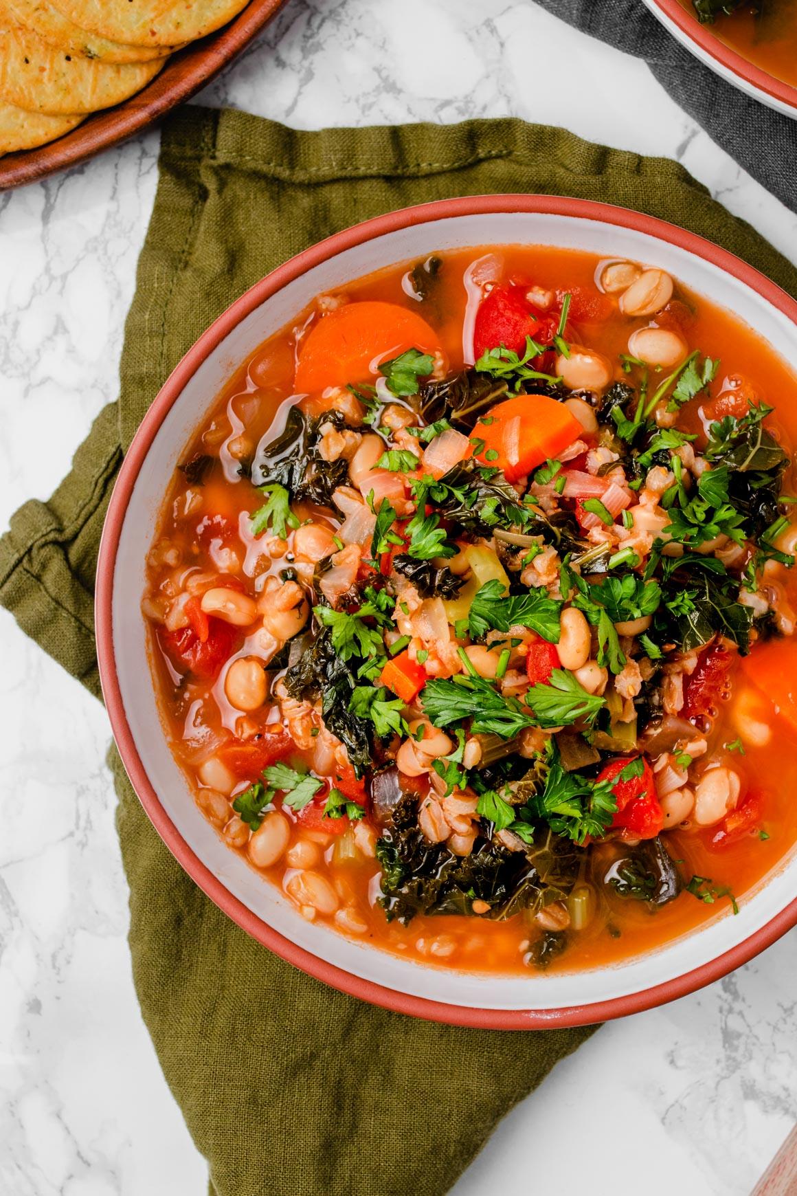 farro vegetable soup