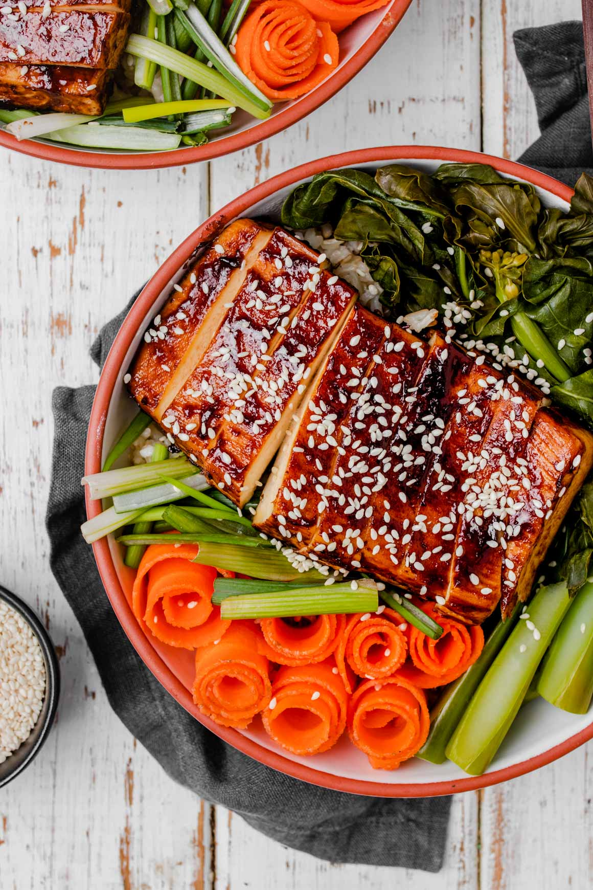 char siu tofu bowl
