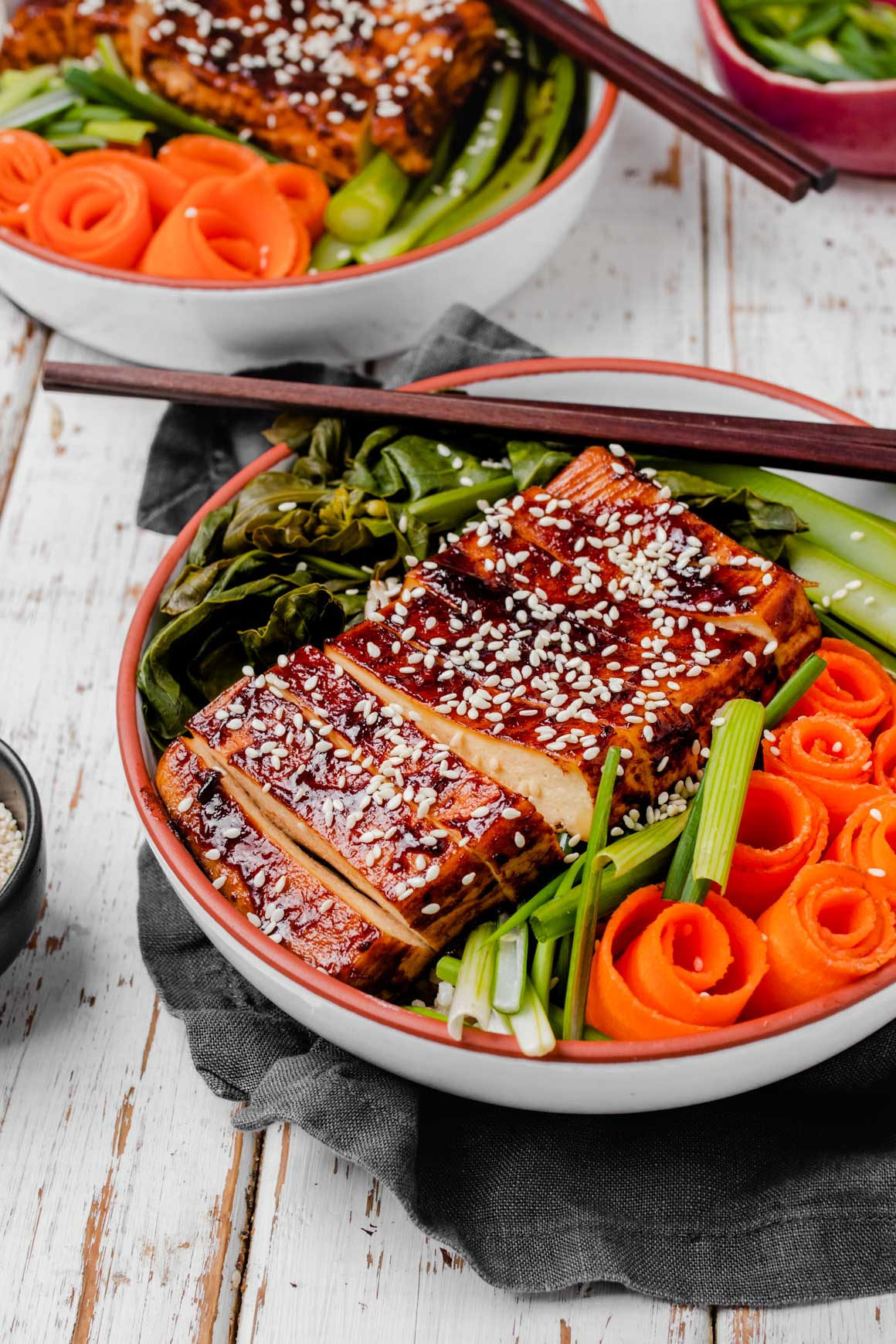 chinese bbq tofu bowl