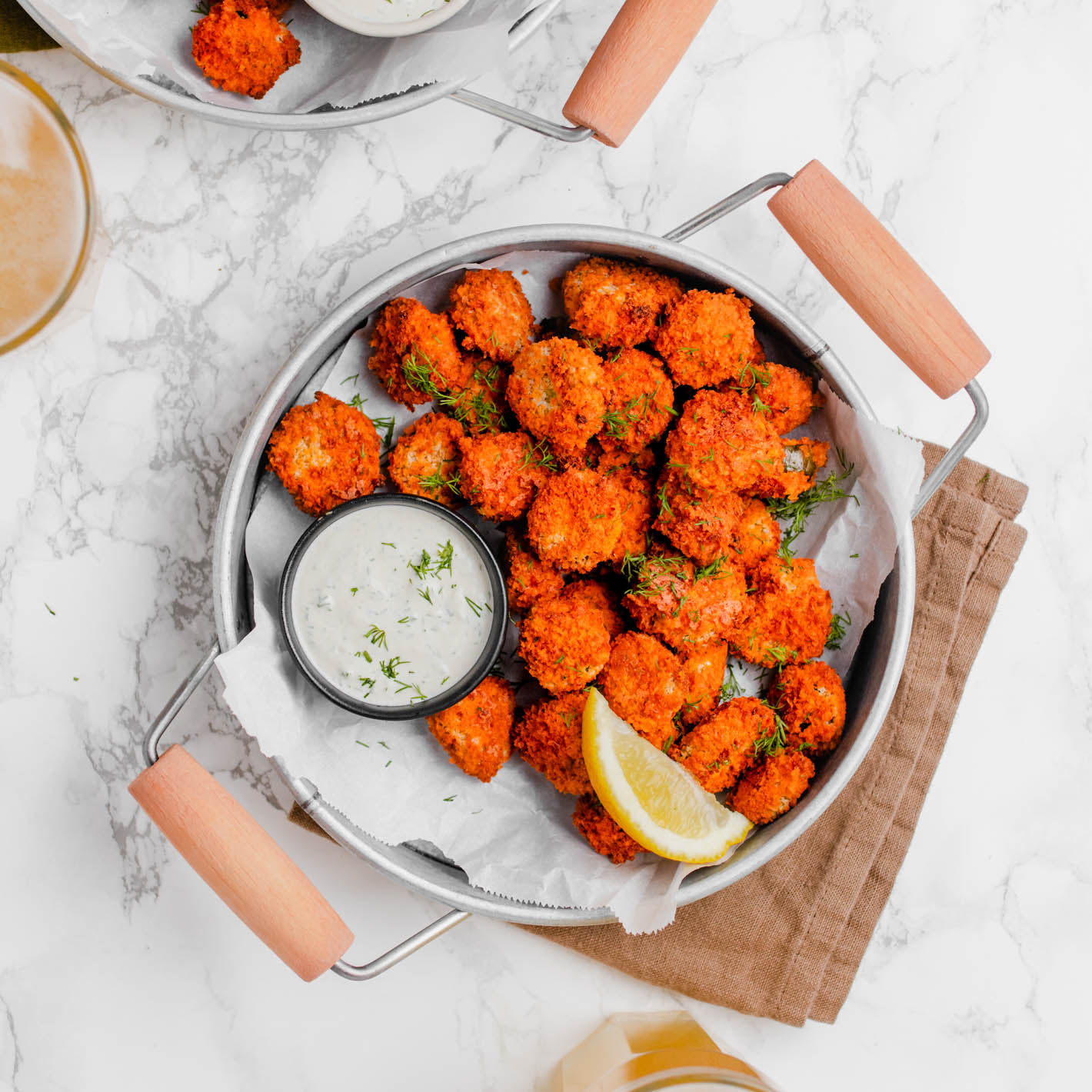 Air-Fried Buffalo Pickle Bites