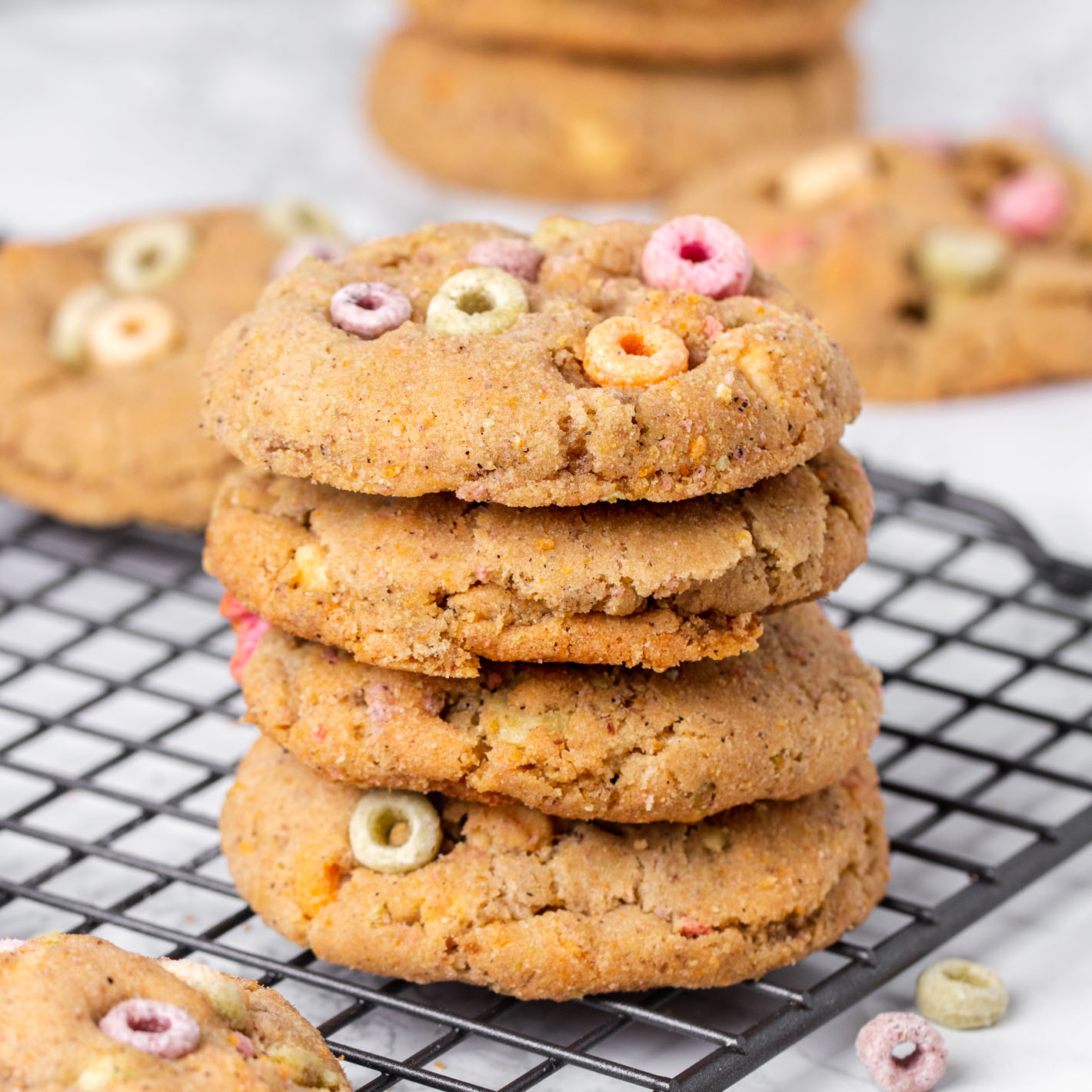 Vegan Fruity Cereal Cookies