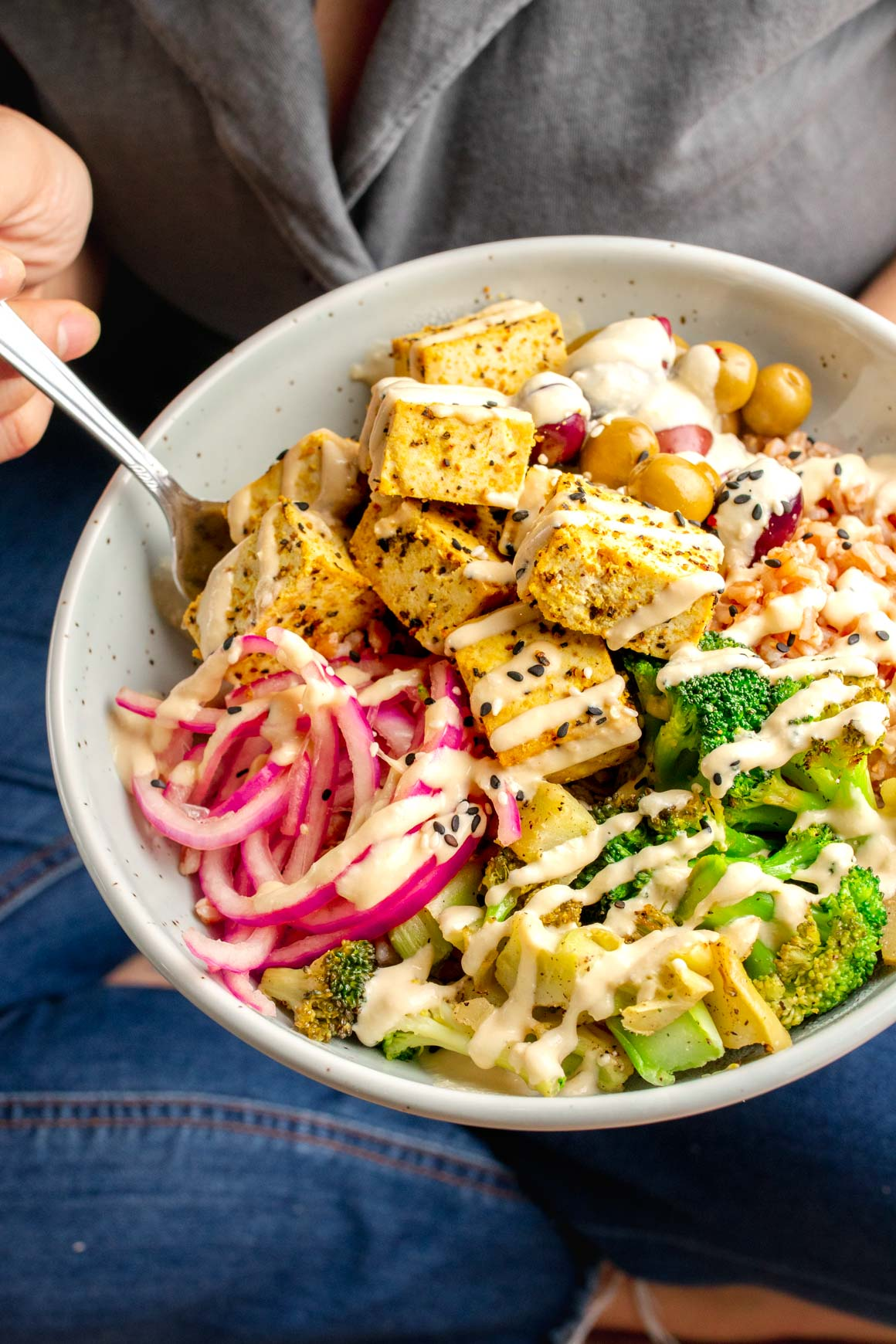 Lemon Pepper Tofu Buddha Bowl