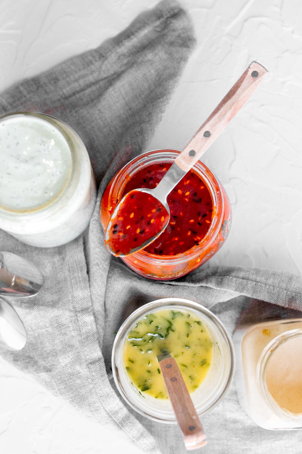 4 Easy Vegan Sauces and Dressings
