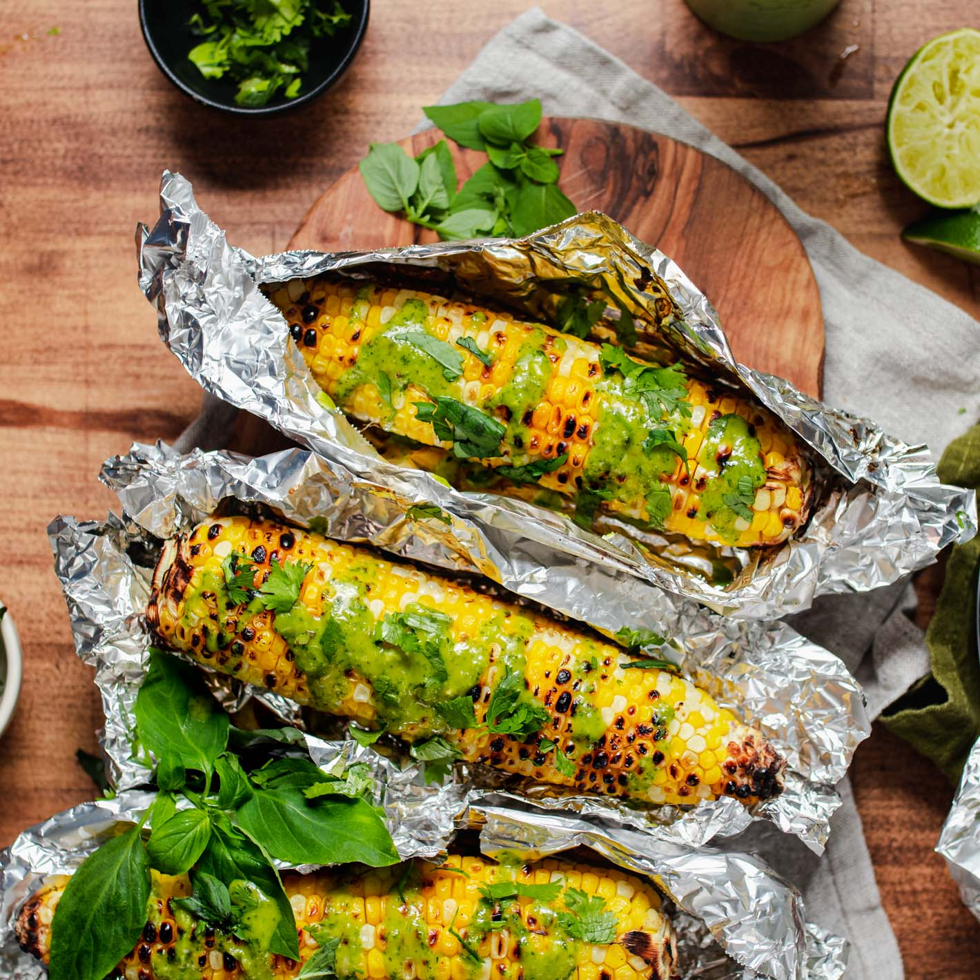 Green Curry Corn on the Cob