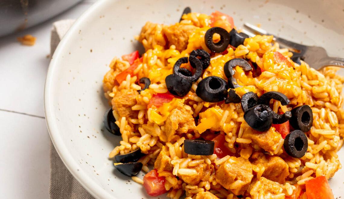Vegan Skillet Cheesy Rice