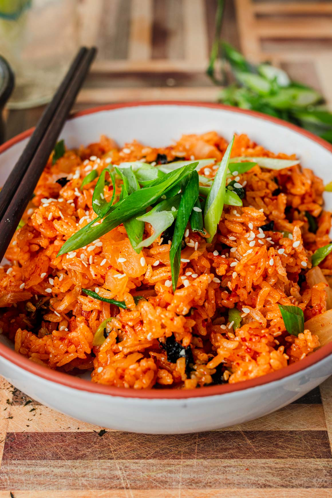 Kimchi Fried Rice with Green Onions Recipe
