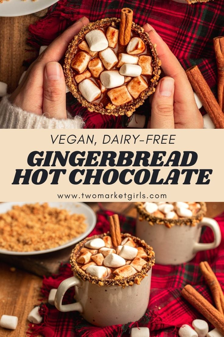 Vegan Gingerbread Hot Chocolate | Two Market Girls